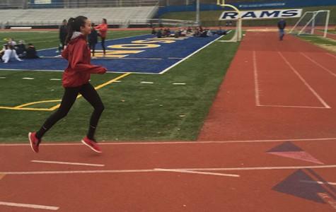 Winter track sophomore Saki Martin