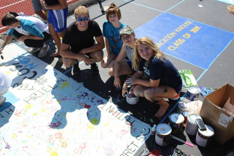 Seniors Leave Their Mark with Track Paintings