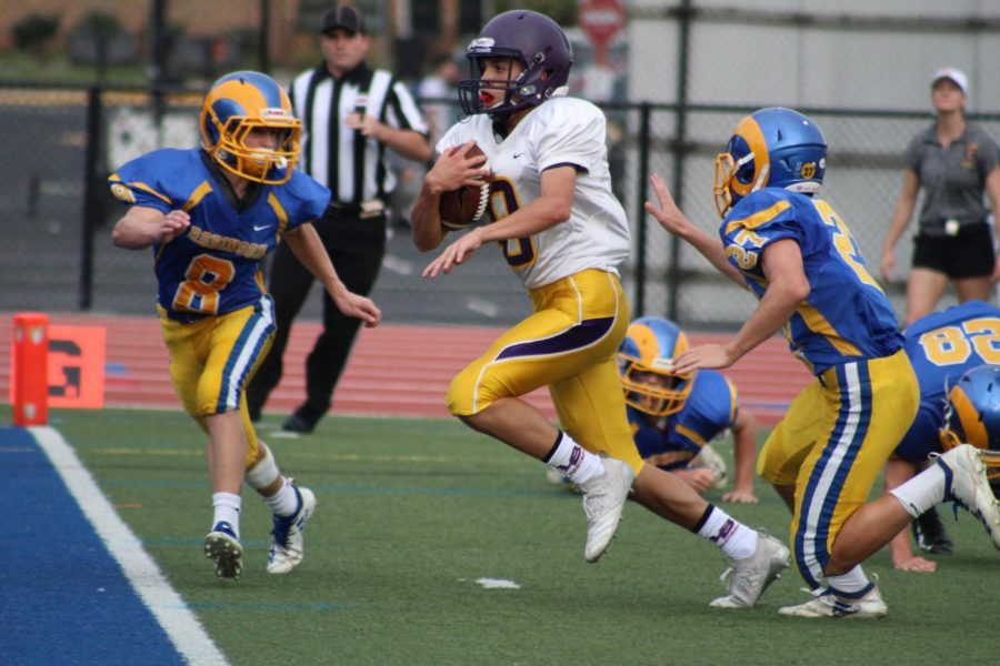 Lake Braddock bringing the ball in for a touchdown.
