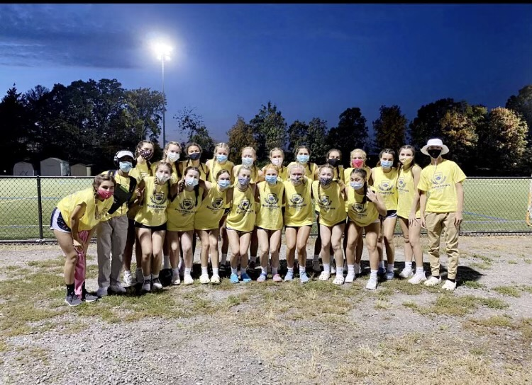 The Sophomore 2020 powderpuff team poses for a picture. The team followed safety protocol while playing the game.